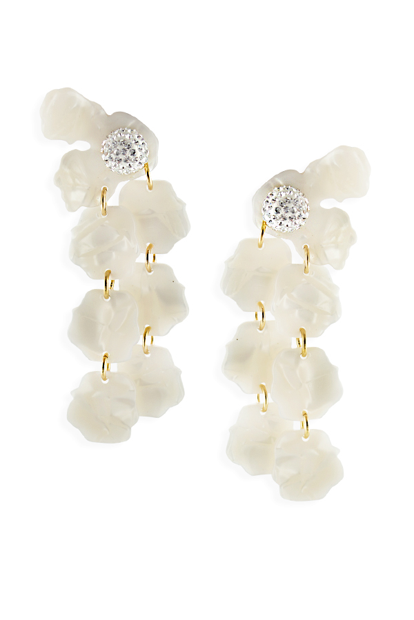 Lele Sadoughi - Petal Drop Earrings - Mother Of Pearl