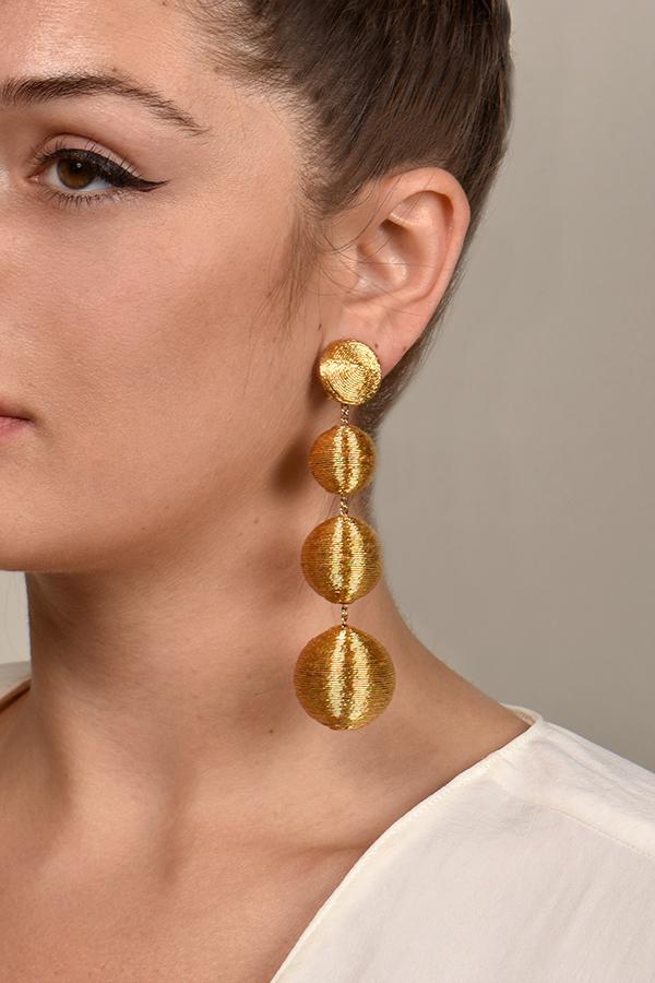 2f08ece4aab52 Rebecca De Ravenel India Classic 4 Drop Earrings (Gold)   Rent ...