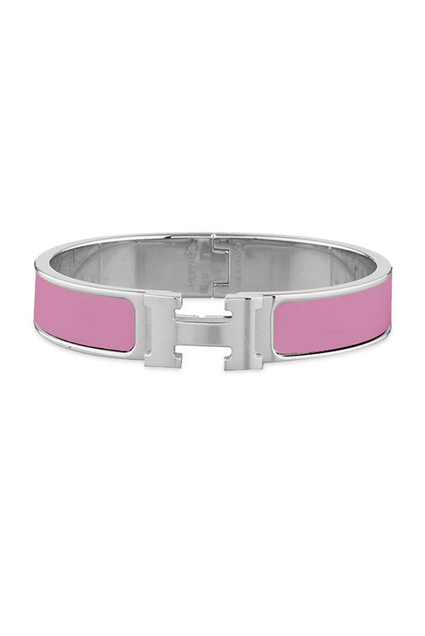 Hermes - Narrow Clic H Bracelet  Bright Pink Palladium Plated    PM View 1