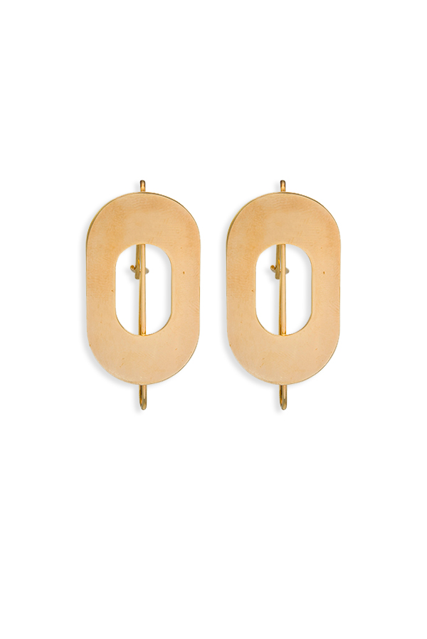 Marni - Round Yellow Gold Earrings