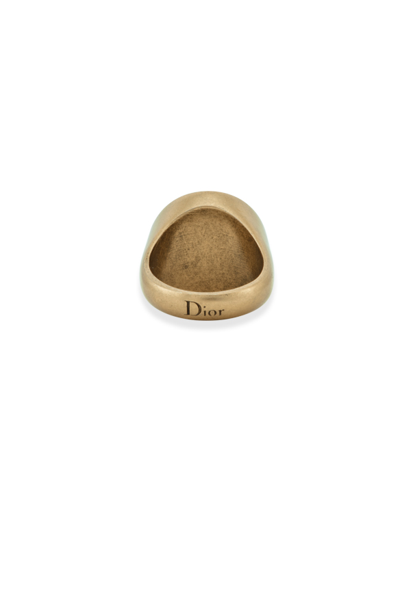 Christian Dior - Engraved Signet Ring - Size 6