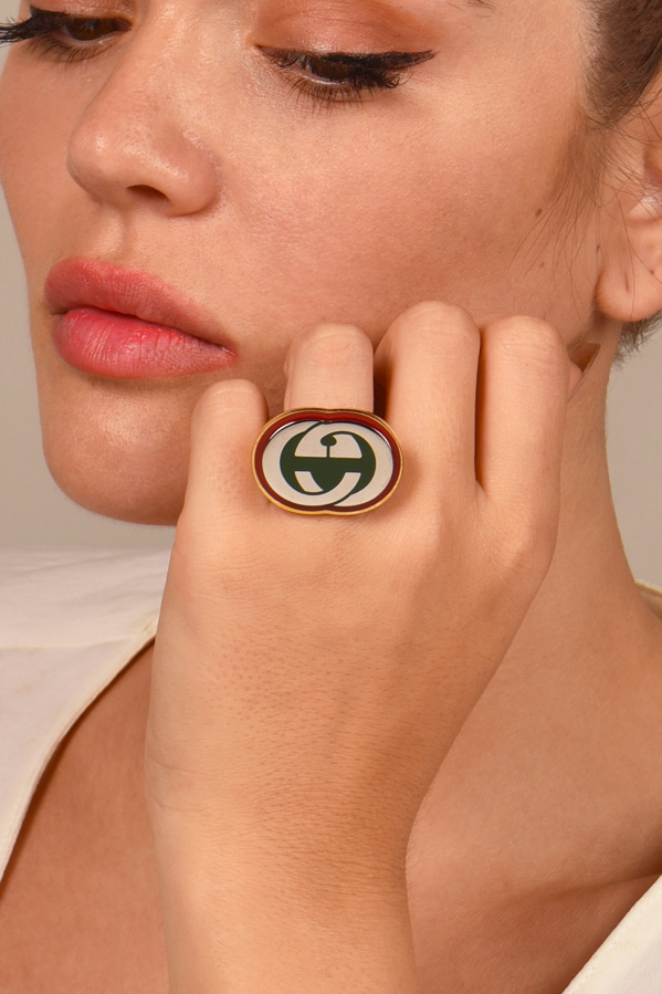 Gucci - Interlocking G Ring - Size 8.5