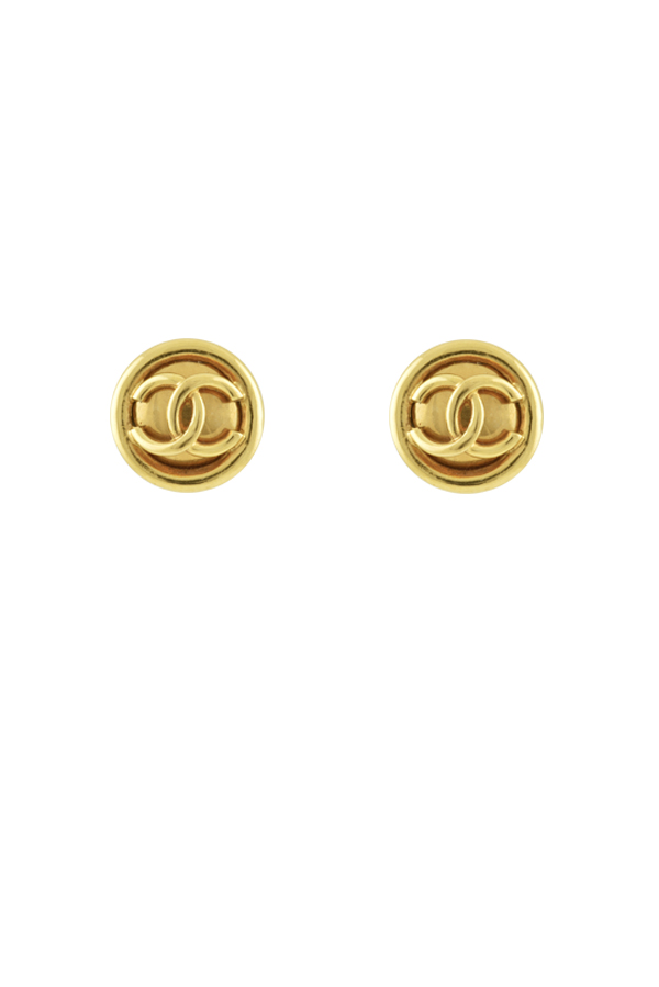 Chanel - Plain CC Logo Pop Out Clip Ons - Large