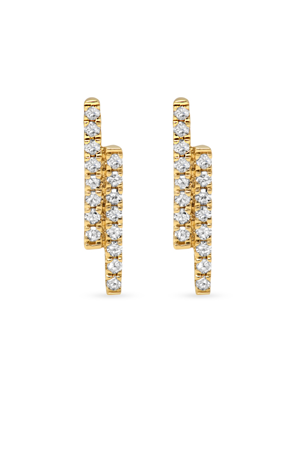 Do Not Disturb - The Dubai Studs (14k Yellow Gold and Diamonds) View 1