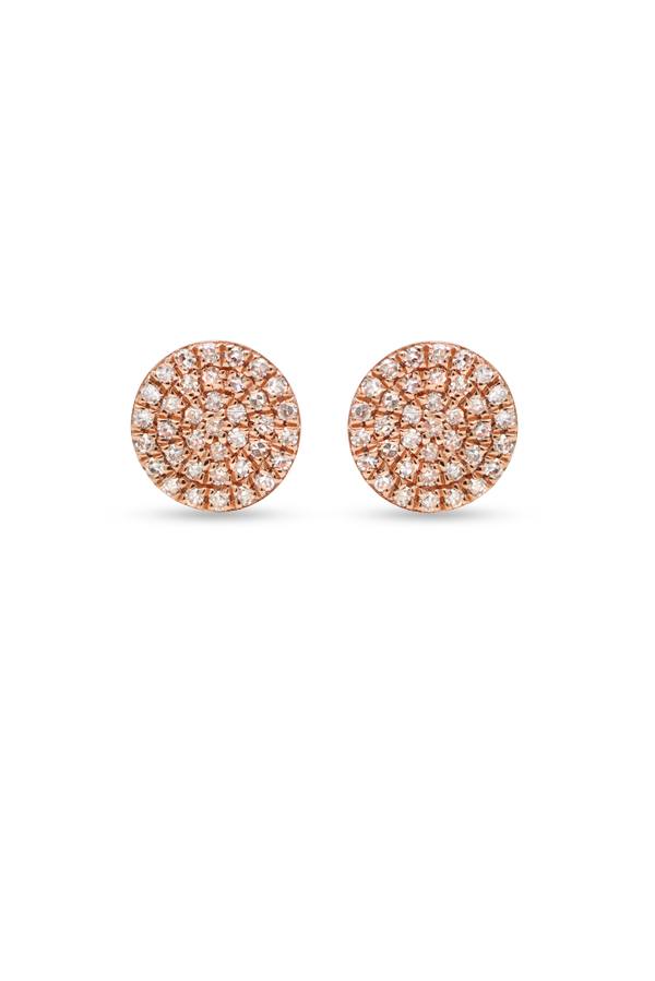 Do Not Disturb - The Bali Studs (14k Rose Gold and Diamonds)