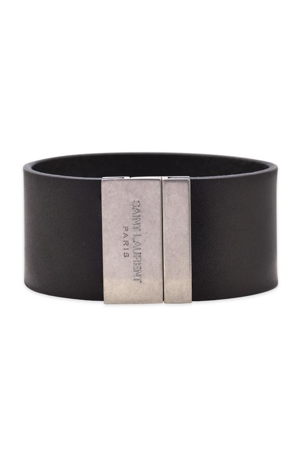 1405cf1ac09dac Yves Saint Laurent YSL Calfskin Leather Cuff Bracelet | Rent Yves ...