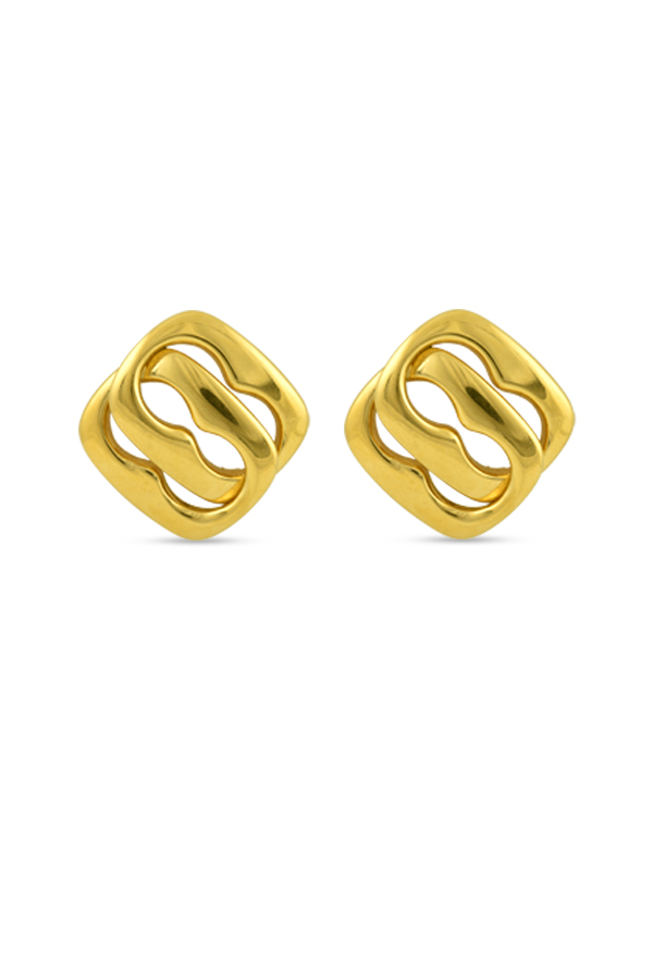 Gucci - Vintage Square Link Clip On Earrings