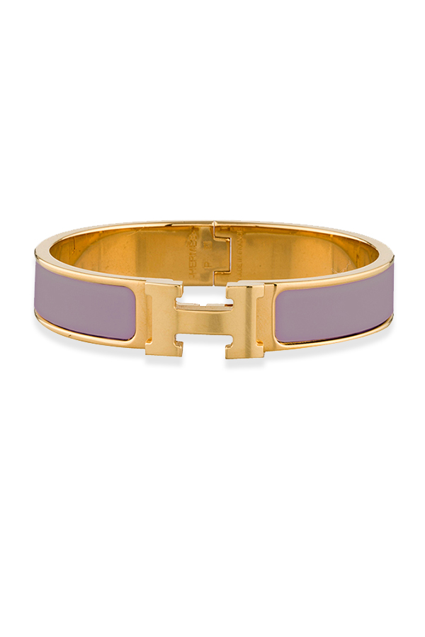 Hermes - Narrow Clic H Bracelet (Lavender/Yellow Gold Plated)  - PM