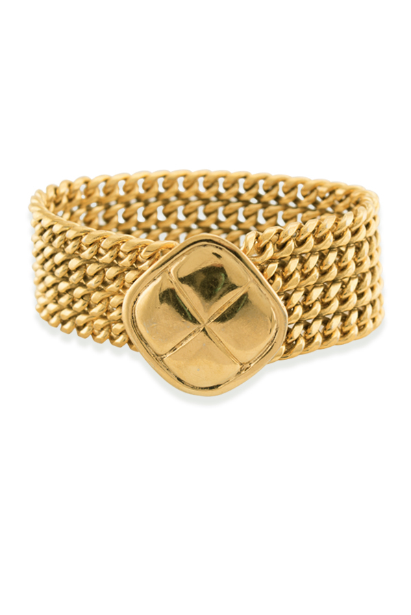 Chanel - Quilted Pendant Chain Bracelet