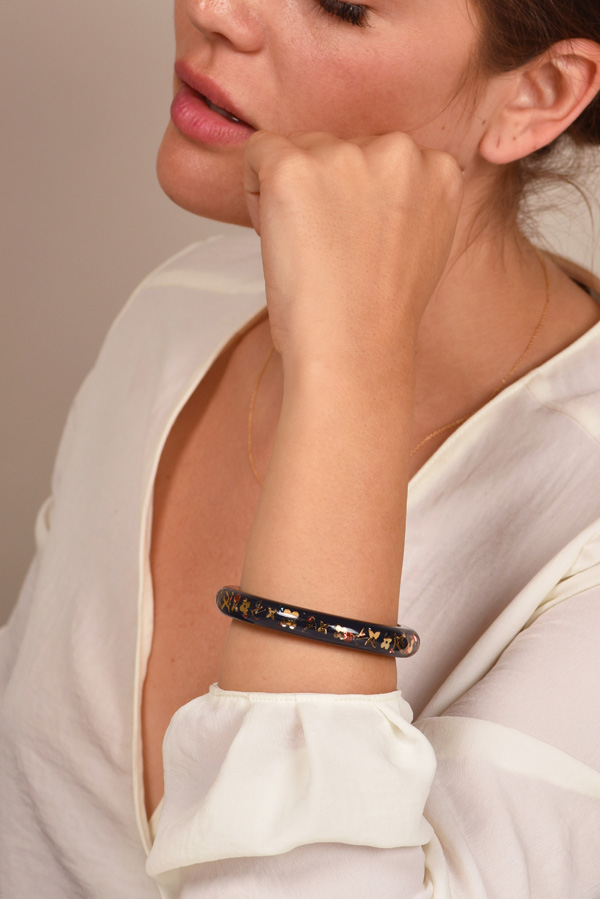 Louis Vuitton - Narrow Inclusion Bangle  Navy Blue Gold    Small View 2