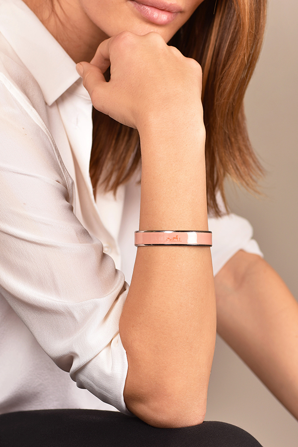 Hermes - Small Caleche Bracelet (Light Pink)