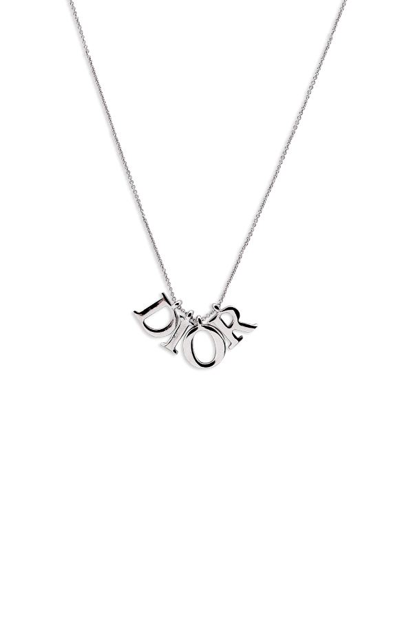 Christian Dior - Dior Logo Silver Spellout Necklace View 1