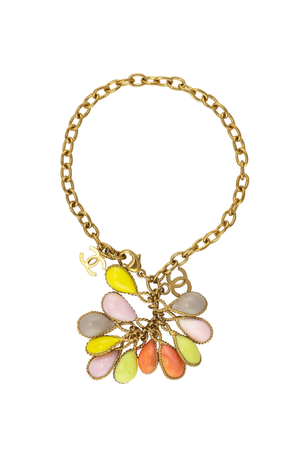 Chanel - Vintage Colorful Bunch Logo Bracelet