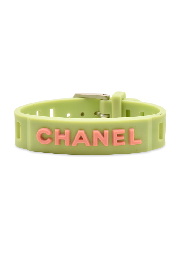 Chanel - Vintage Watch Strap Style Logo Bracelet View 1