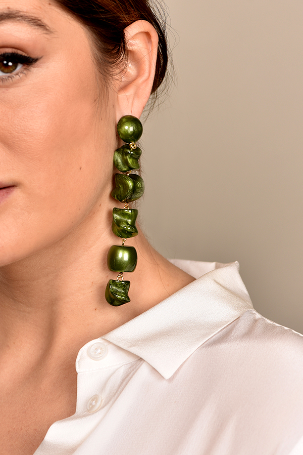 Cult Gaia - 1678137423_Switch Jewelry Cult Gaia Leo Earrings   Malachite jpg