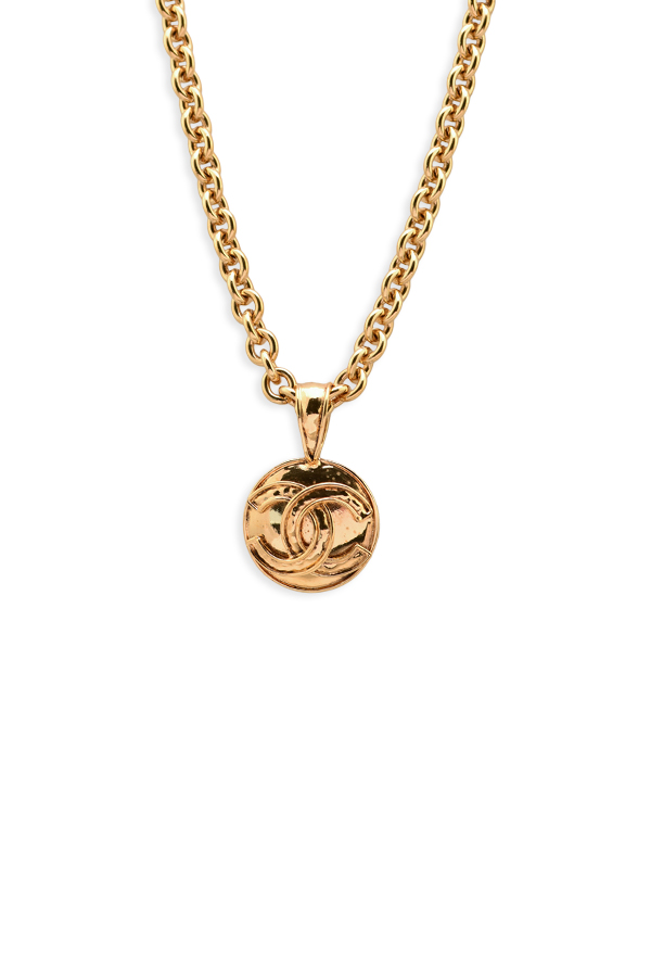 Chanel - Vintage Circular CC Coin Pendant Necklace