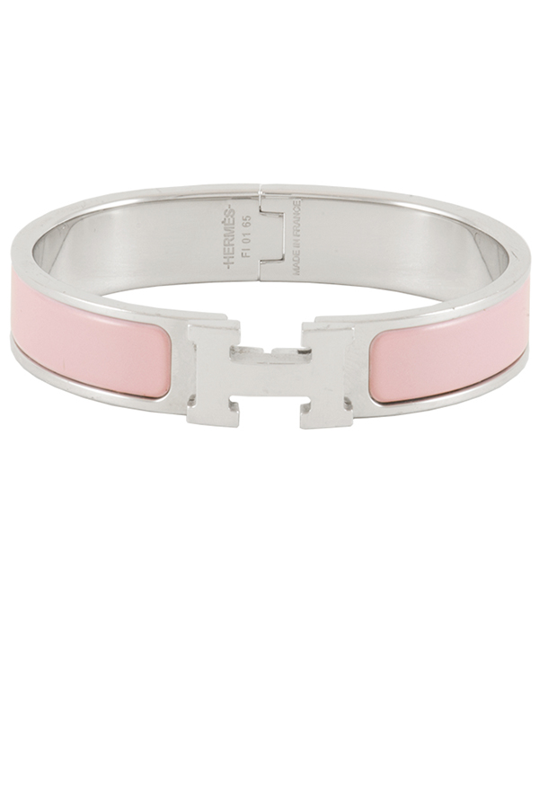Hermes - Narrow Clic H Bracelet  Pink Palladium Plated  View 1