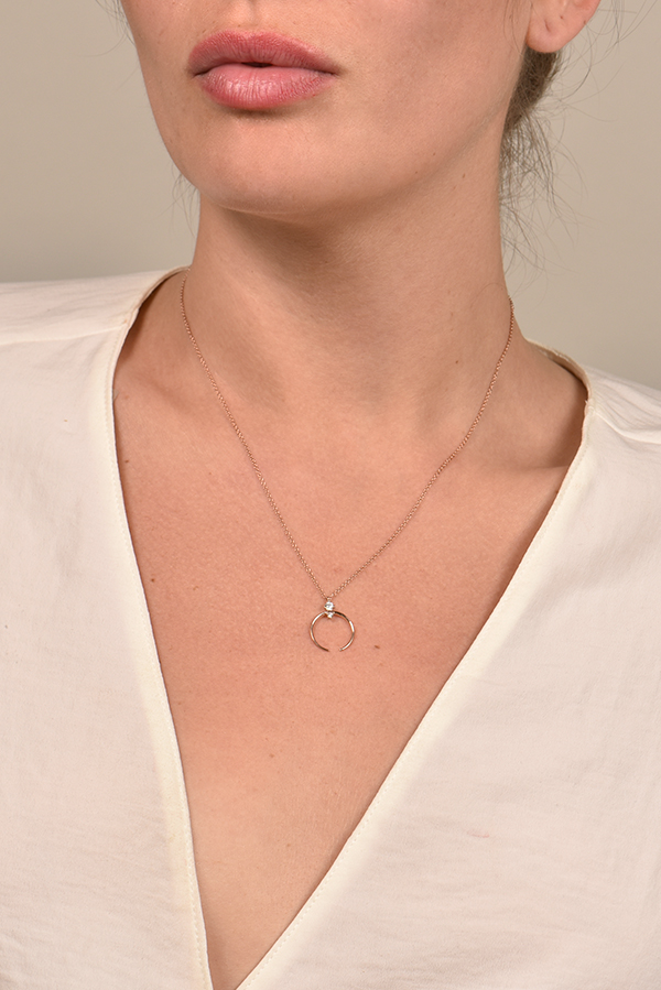 Sophie Ratner - Crescent Pendant Necklace