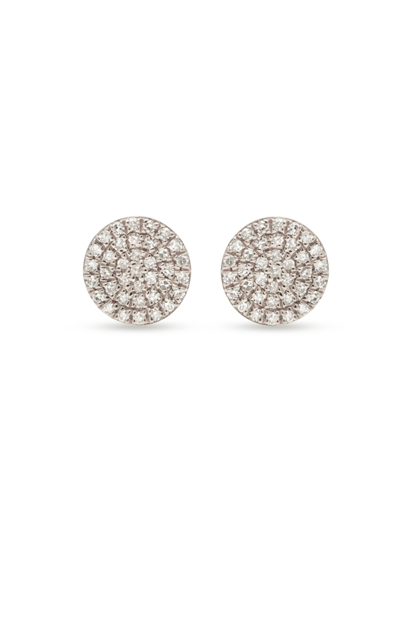 Do Not Disturb - The Bali Studs (14k White Gold and Diamonds)