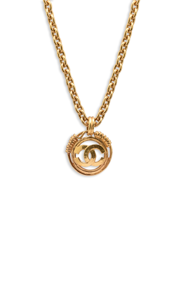 Chanel - Vintage Wire CC Logo Cut Out Necklace View 1
