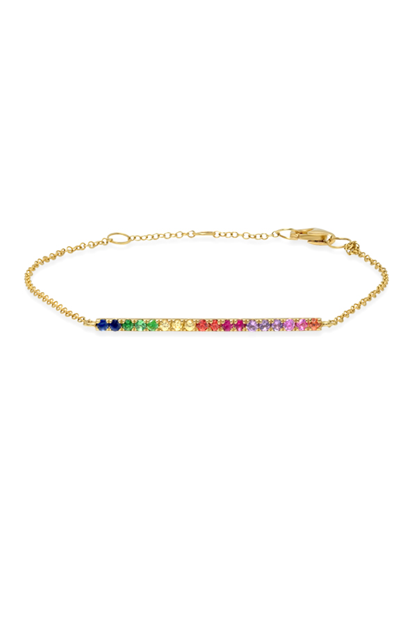 Do Not Disturb - The Amalfi Chain Bracelet (14k Yellow Gold and Semi-Precious Stones)