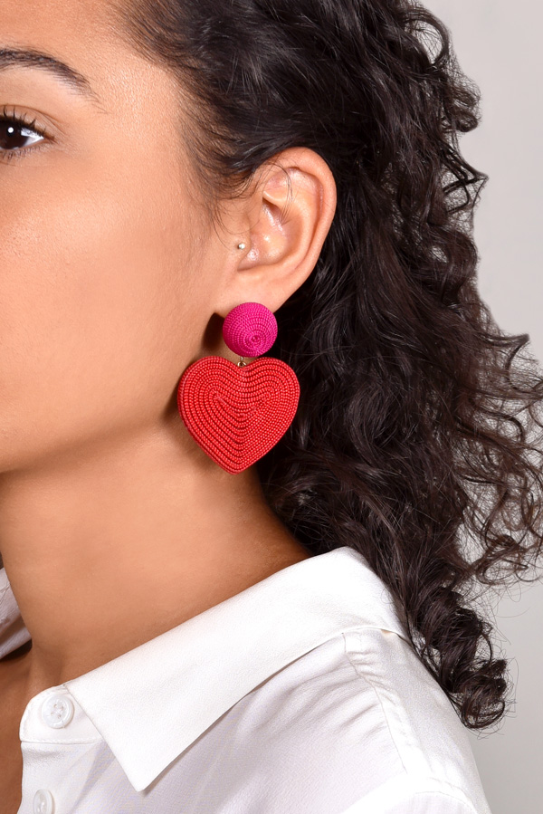 Rebecca De Ravenel - Cora Earrings  Red and Pink  View 2