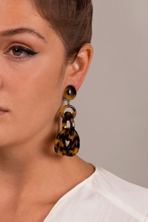 Angela Caputi - Tortoise Link Earrings