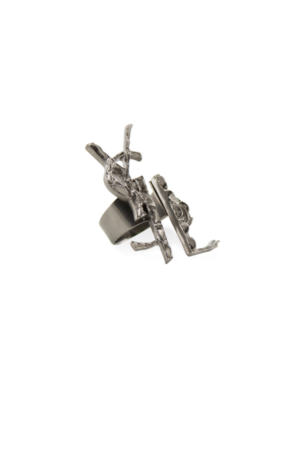Yves Saint Laurent - Opyum Destructured Crocodile Ring - Silver - Size 6