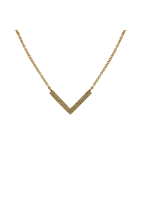 Switch - 18K Necklace With Chevron Diamond Pendant View 1
