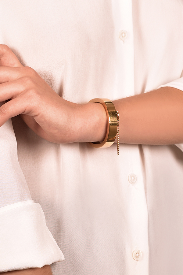 Celine - Security Chain Lock Bracelet  Gold  View 1
