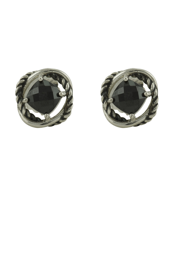 David Yurman - 1778647570_Switch Jewelry David Yurman Infinity Stud Earrings  Black Hematite  jpg