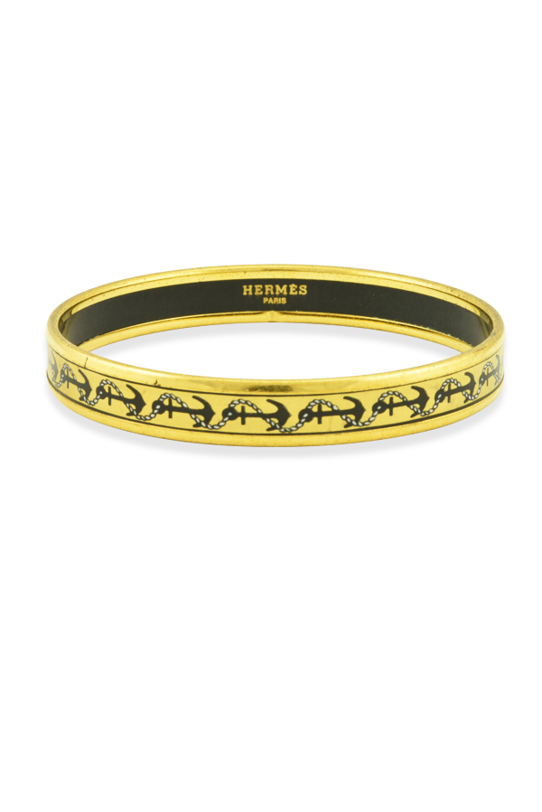 Hermes - Narrow Enamel Bangle (Anchor)