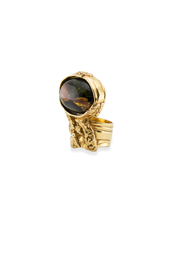 Yves Saint Laurent - 1789148626_Switch Jewelry YSL Arty Oval Ring    Black And Green  Size 7   2 jpg