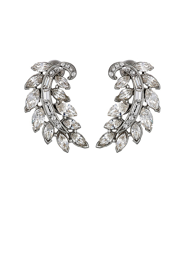 Ben-Amun - Crystal Feather Stud Earrings