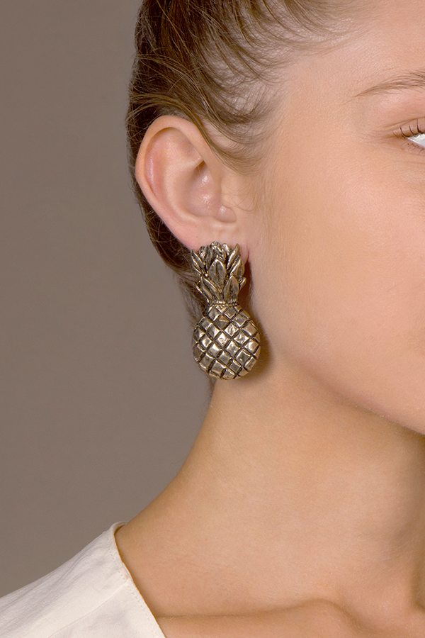 Valentino - Pineapple Earrings (Clip-ons)