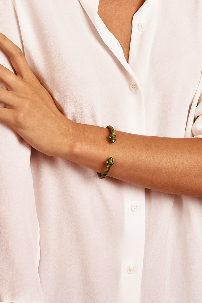 David Yurman - Forest Green Renaissance Bracelet