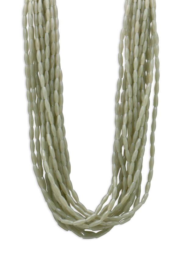 Angela Caputi - Multi Strand Resin Beaded Necklace (Green)