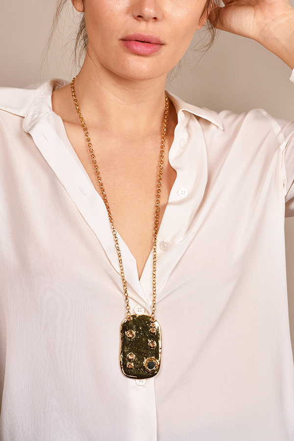 Aurelie Bidermann - Anita Organic Pendant Necklace
