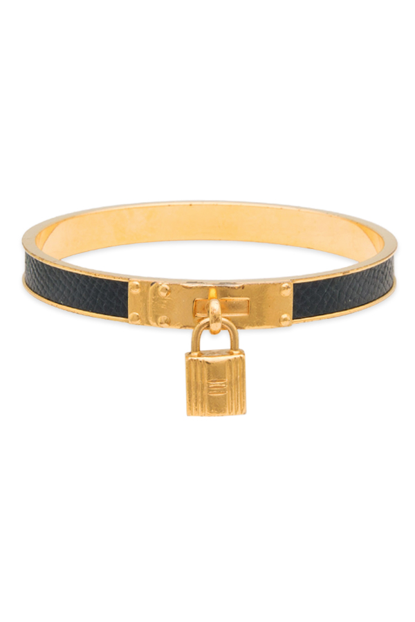 Hermes - Kelly Cadena Lock Bangle (Black And Gold) View 1