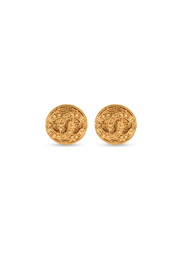 Chanel - Vintage Arabesque CC Logo Clip On - Small