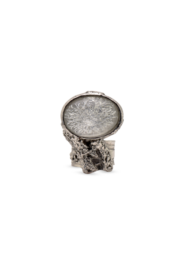 Yves Saint Laurent - Crystal Arty Ring (Silver) - Size 6.25