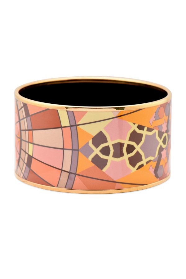 Hermes - Extra Wide Enamel Bangle  Multicolor Star Motif  View 1