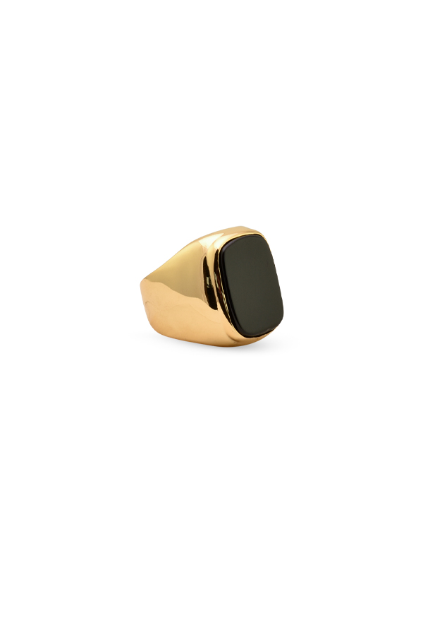 Celine - Black Onyx Cocktail Ring   7 5 View 1