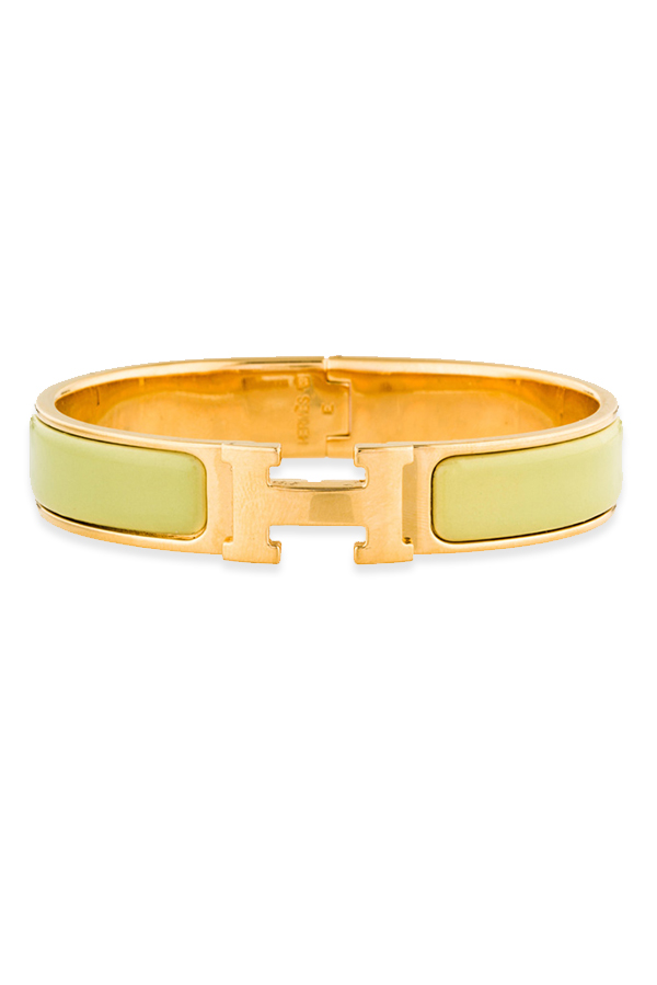 Hermes - Narrow Clic H Bracelet (Neon Yellow/Yellow Gold Plated) - PM