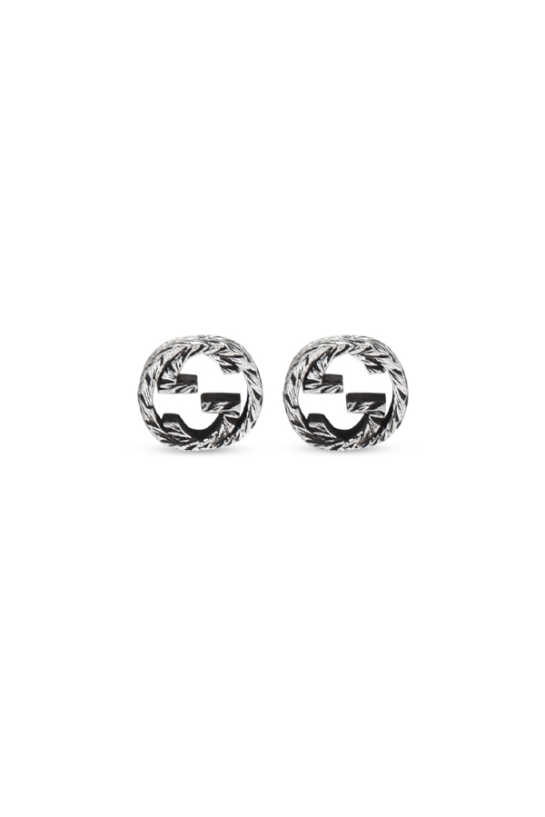 Gucci - Silver Interlocking G Earrings