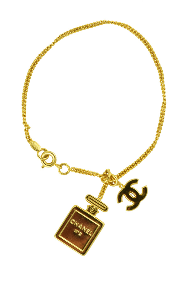 Chanel - Chain with Perfume and CC Logo Charms