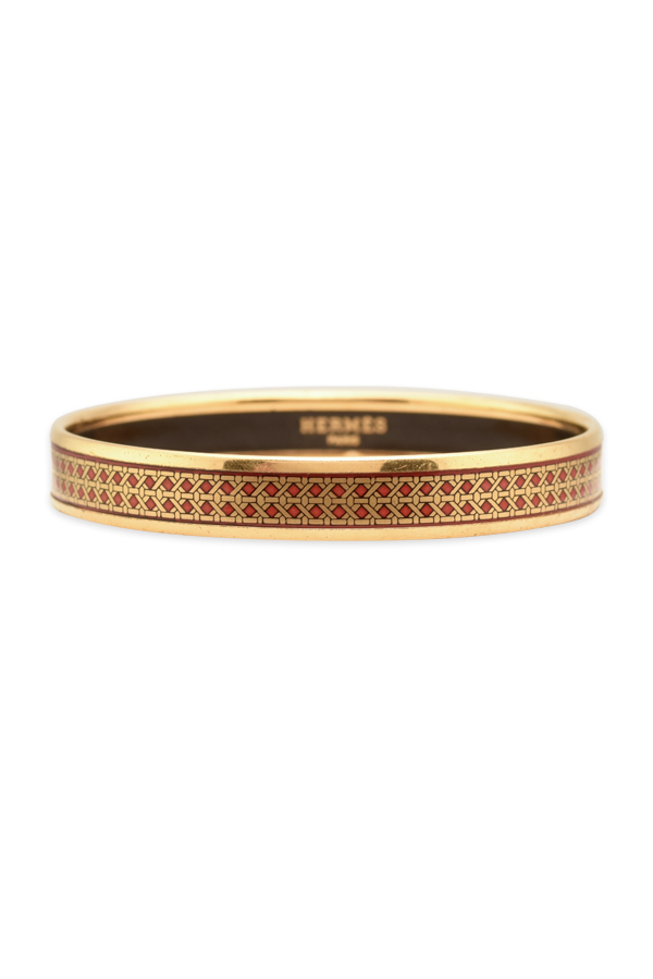 Hermes - Narrow Enamel Bangle  Red Gold  View 1