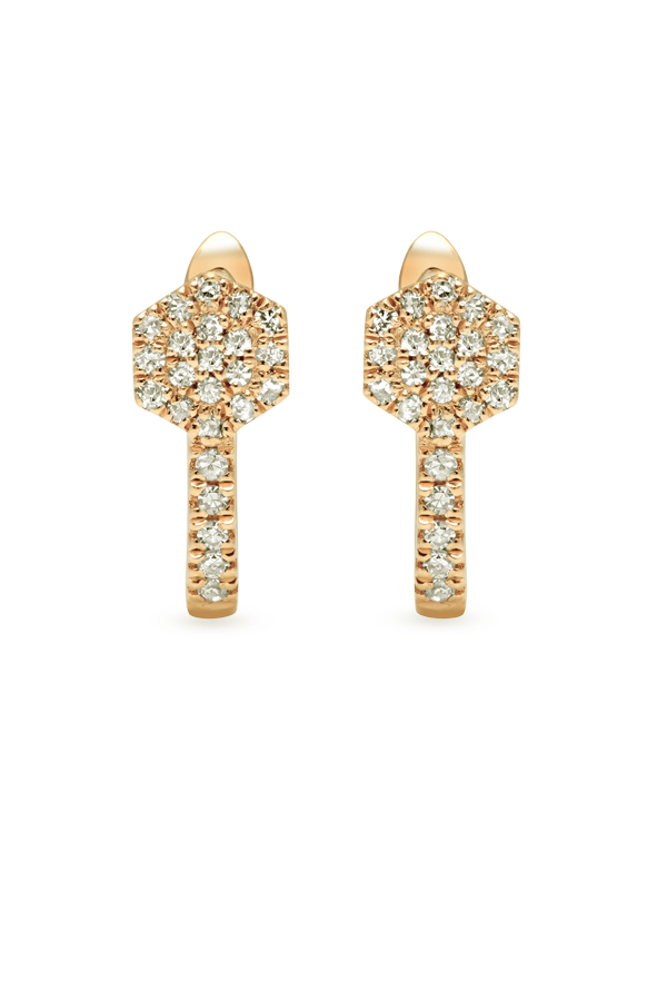 Do Not Disturb - The Rome Huggies (14k Yellow Gold and Diamonds)