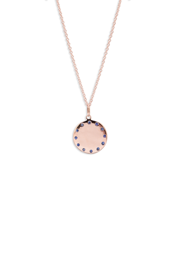 Do Not Disturb - The Paris Necklace (14k Rose Gold and Blue Sapphires)