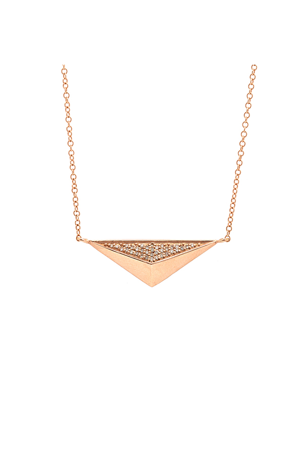 Yu  - Triangle Necklace (14k Rose Gold)